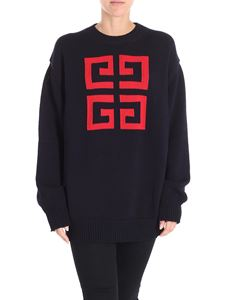 Givenchy - Blue over fit pullover with logo