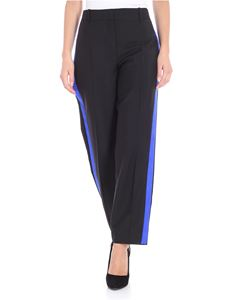 Givenchy - Black crop trousers with side bands