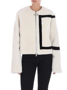 Givenchy - Ice-colored fur jacket with logo