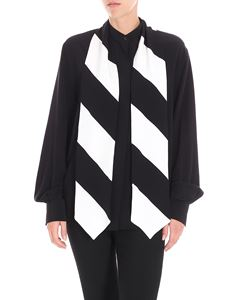 Givenchy - Black shirt with bicolor ribbon