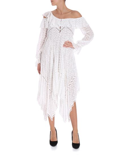 b609315bcbc76 Self-Portrait Fall Winter 18/19 embroidered voille asymmetric dress ...