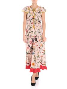 Red Valentino - Pink floral printed sleeveless dress
