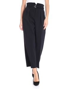 Red Valentino - Black high-waisted pants with belt