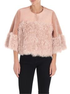 Red Valentino - Nude color leather and fur jacket