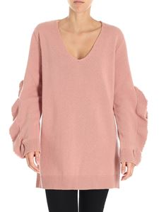 Red Valentino - Antique pink sweater with ruffles