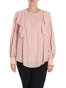 See by Chloé - Pink ruffled blouse