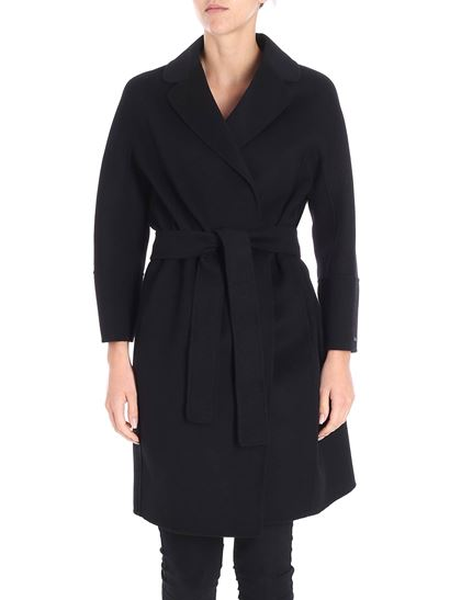 4e41529b7ee4 S Max Mara Fall Winter 18 19 arona black coat - 90860189 000 015