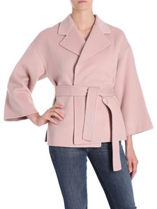 Theory - New Divide pink dropped shoulder coat
