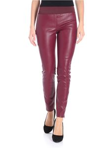 Stella McCartney - Burgundy eco-leather leggings