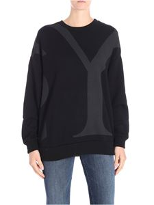 Y's Yohji Yamamoto - Black crewneck sweatshirt with dropped shoulder
