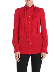 Gucci - Red shirt with wrinkled effect
