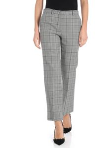 Red Valentino - Black and white Prince of Wales trousers