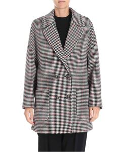 Red Valentino - Houndstooth double-breasted wool coat