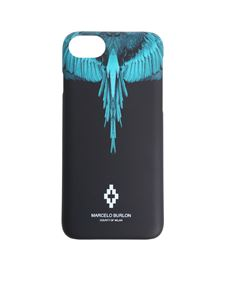 Marcelo Burlon - Cover Wings Iphone 8 nera e azzurra