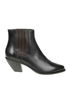 Golden Goose Deluxe Brand - Black Sunset ankle boots with stitching