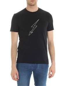 Givenchy - World Tour and lightning print black t-shirt