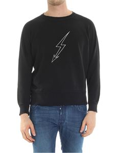 Givenchy - Black vintage look crewneck sweatshirt
