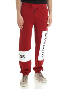 Givenchy - Red Jogging pants with logo stripes