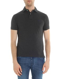 POLO Ralph Lauren - Anthracite piqué polo shirt with logo