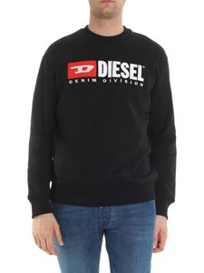 Diesel - Black crewneck sweatshirt with logo
