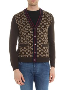 Gucci - Brown monogram print cardigan
