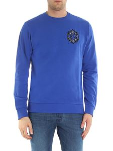 Versace Jeans - Bluette crew neck sweatshirt with logo patch