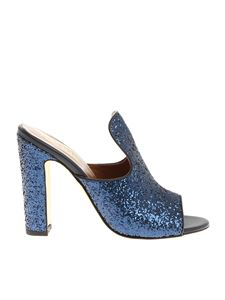 Paris Texas - Blue glittered sandals