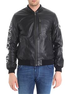 Versace Jeans - Black leather padded jacket