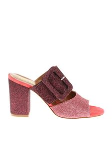 Paris Texas - Pink and purple glittered sandals