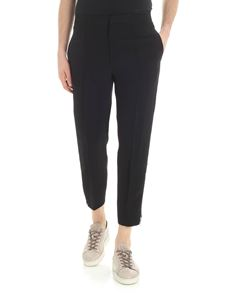 Alexander McQueen - Black trousers with white stripes