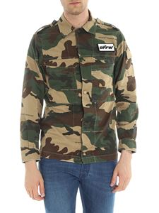 Off-White - Camouflage shirt with snap buttons