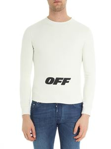 Off-White - Ivory Wing Off crewneck sweatshirt with logo print