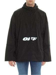 Off-White - Black over fit jacket with logo