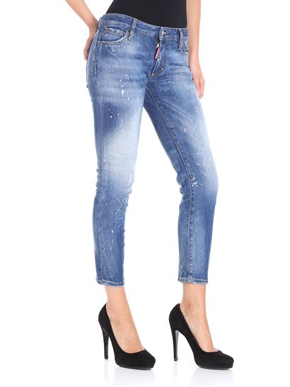 Dsquared2 - Light blue Twiggy cropped jeans
