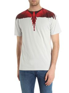 Marcelo Burlon - Gray Wings t-shirt with red print