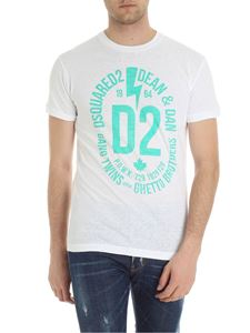 Dsquared2 - White t-shirt with green logo print