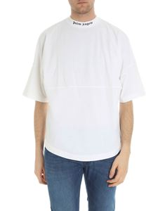 Palm Angels - White dropped shoulder overfit t-shirt