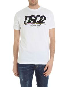 Dsquared2 - White t-shirt with multicolor print