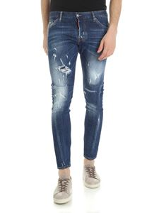 Dsquared2 - Dark blue destroyed Twist sexy jeans