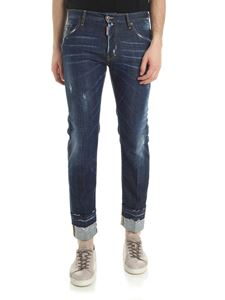 Dsquared2 - Dark blue Dan Run jeans