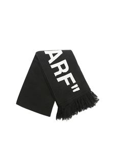 Off-White - Black knitted Quote scarf