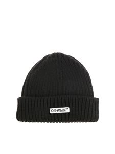 Off-White - Black knitted beanie