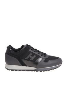 Hogan - Black H321 sneakers with gray sole