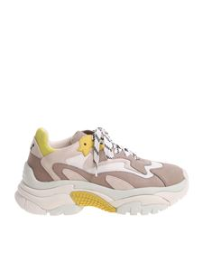 Ash - Gray and yellow Addict sneakers