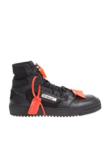 Off-White - Black Low 3.0 sneakers with orange inserts