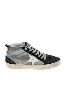 Golden Goose Deluxe Brand - Blue and silver mid star sneakers