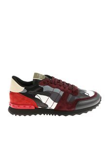 Valentino - Blue and red camouflage sneakers