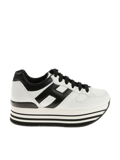 Black and white H283 sneakers