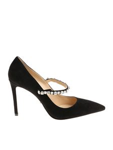 Prada - Black pointy pumps with rhinestones