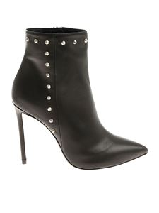 MARC ELLIS - Black pointy ankle boots with studs